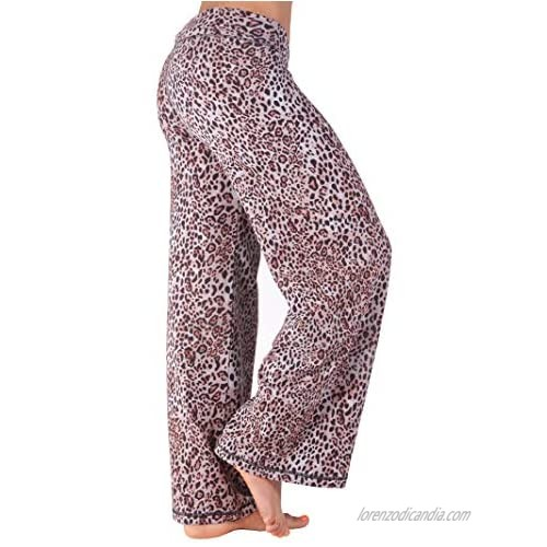 Hali Cali Cotton Spandex Women's Straight Casual Loose Wide Leg fold Over Comfy Palazzo Pants for Women