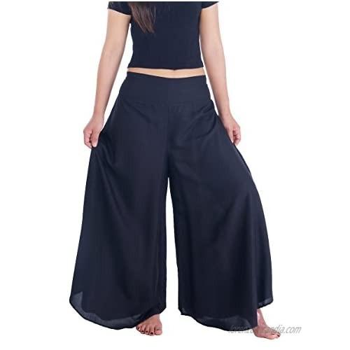 Lannaclothesdesign Palazzo Pants for Women Wide Leg Boho Harem Yoga Pants 37 Inches Length