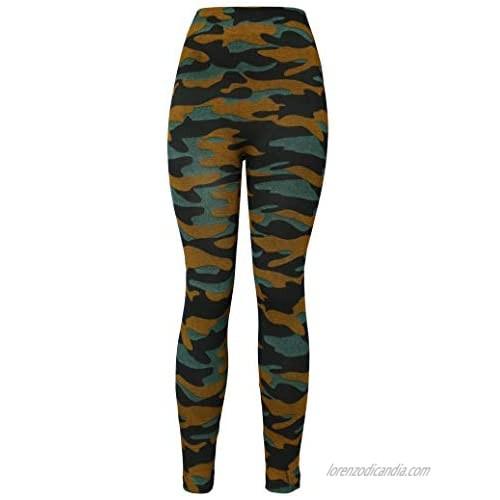 KMystic Women's Denim Print Fake Jeans Leggings
