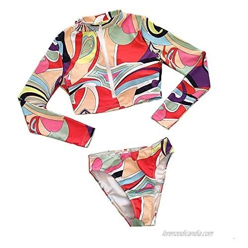 MAYW Womens 2021 Summer Beachwear High Waisted Tummy Control Beachwear for Womens