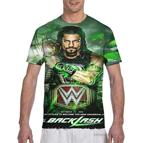 QYMENGYI WWE Roman Reigns Show Up & Win Authentic T-Shirt
