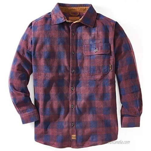 Venado Mens Plaid Shirts for Men - Heavyweight Buffalo Plaid Fleece Shirt