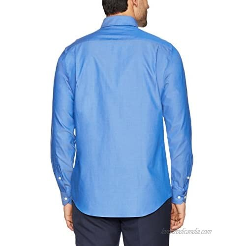 Brand - Buttoned Down Men's Tailored-Fit Button Collar Pinpoint Non-Iron Dress Shirt French Blue 19.5 Neck 37 Sleeve (Big and Tall)