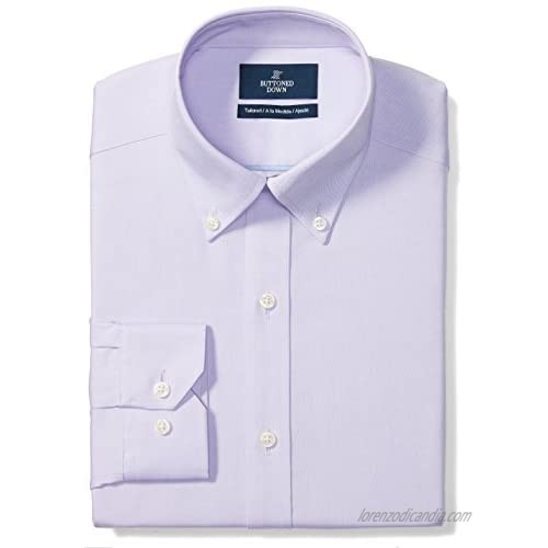 """Brand - Buttoned Down Men's Tailored-Fit Button Collar Pinpoint Non-Iron Dress Shirt  Purple  17.5"""" Neck 32"""" Sleeve"""