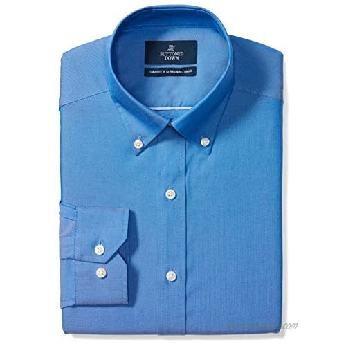 """Brand - Buttoned Down Men's Tailored-Fit Button Collar Pinpoint Non-Iron Dress Shirt  French Blue  19.5"""" Neck 35"""" Sleeve (Big and Tall)"""
