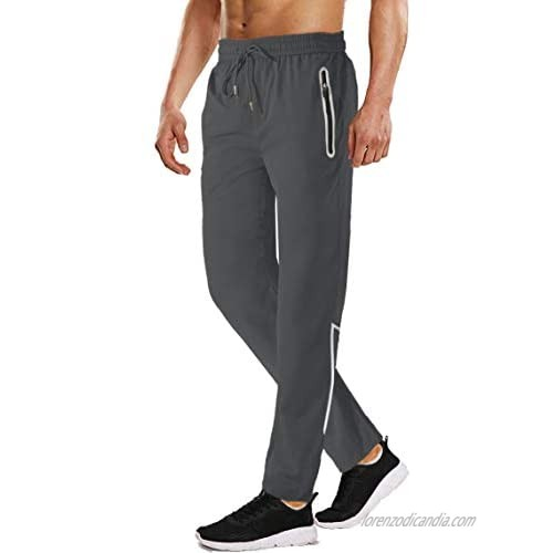 WOTHONPIS Men's Lightweight Workout Hiking Pants Quick Dry Stretch Breathable Sweatpants Regular Fit