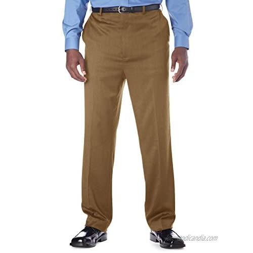 Gold Series by DXL Big and Tall Continuous Comfort Flat-Front Pants