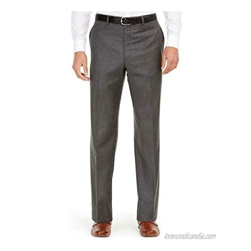 RALPH LAUREN Mens Gray Straight Leg Work Pants Size: 32W/ 32L