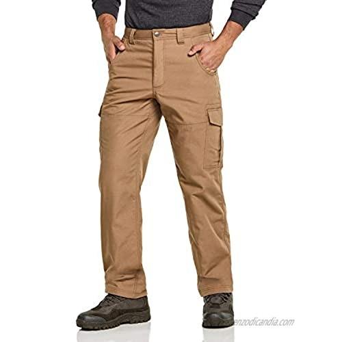 CQR Men's Winter Tactical Pants  Water Repellent Ripstop Fleece Cargo Pants  Thermal Hiking Work Pants  Outdoor Apparel