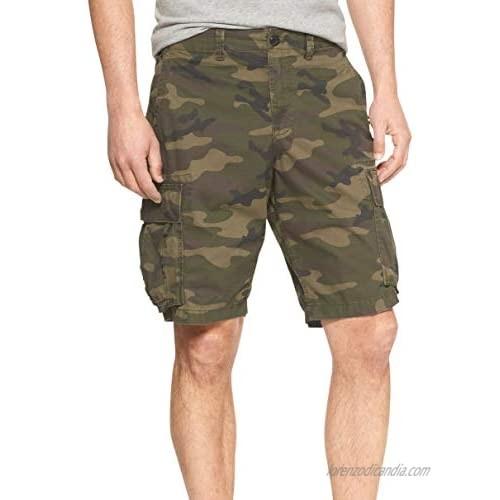 Gap Men's 228562 11 Inch Inseam All Twill Cotton Cargo Pocket Shorts