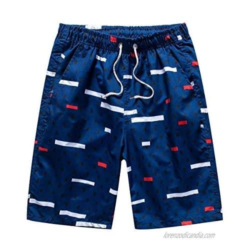 BriaPa Men's Swim Trunks Quick Dry Board Shorts Summer Beach Shorts Pockets Bathing Suits
