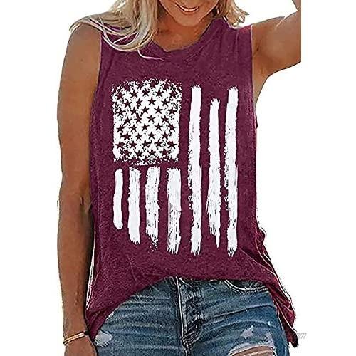 AIMITAG American US Flag Tank Tops Women 4th of July Graphic Patriotic Tank T Shirt Stars Stripes Summer Cute Shirt Tee