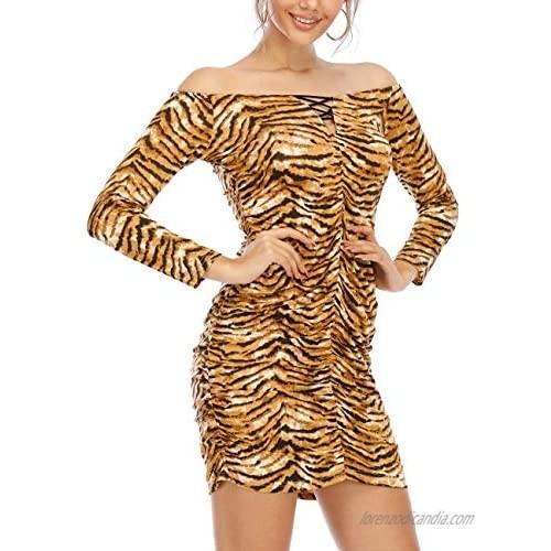 Haola Women's Sexy Bodycon Nightwear Mini Club Dresses